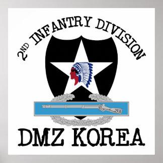 2nd ID Korea DMZ Vet with CIB Poster