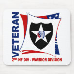 2nd ID Vet - Red, White, and Blue Mouse Pad
