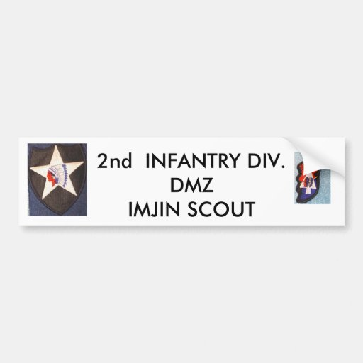 2nd Inf Div 001, 2nd Inf Div 002, 2nd  INFANTRY... Bumper Stickers