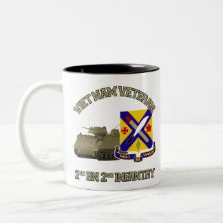 2nd Inf Reg - Vietnam Two-Tone Coffee Mug