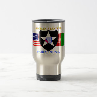 2ND INFANTRY DIV AFGHANISTAN WAR TRAVEL MUG