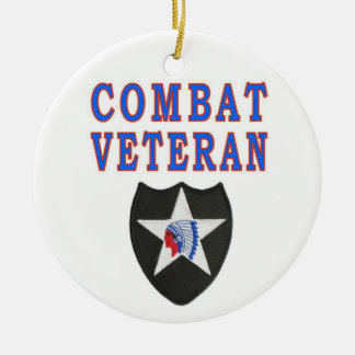 2nd INFANTRY DIVISION Ceramic Ornament