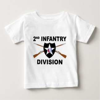 2nd Infantry Division - Crossed Rifles Infant T-shirt