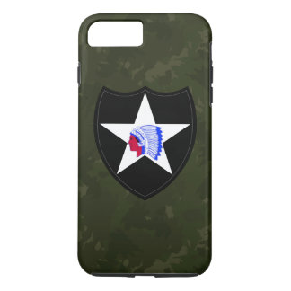 """2nd Infantry Division """"Dark Green Camo"""" iPhone 7 Plus Case"""