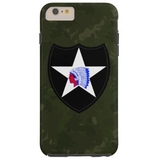 "2nd Infantry Division ""Dark Green Camo"" Tough iPhone 6 Plus Case"