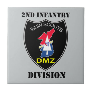 2nd Infantry Division - Imjin Scouts With Text Ceramic Tile