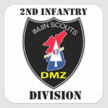 2nd Infantry Division - Imjin Scouts With Text Square Sticker
