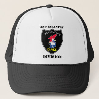 2nd Infantry Division - Imjin Scouts With Text Trucker Hat
