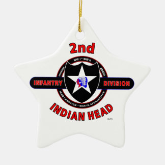 2ND INFANTRY DIVISION INDIAN HEAD ORNAMENTS