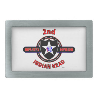 "2ND INFANTRY DIVISION ""INDIAN HEAD"" RECTANGULAR BELT BUCKLE"