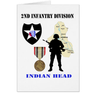 2nd Infantry Division Iraq War Vet Customizable Ca Card