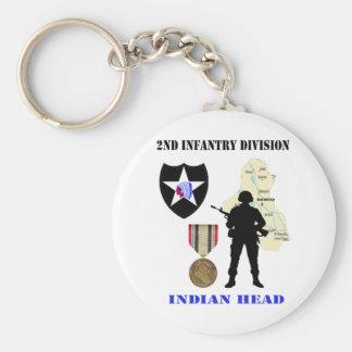 2nd Infantry Division Iraq War Vet Keychain