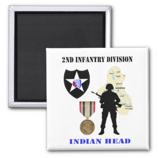 2nd Infantry Division Iraq War Vet Magnet