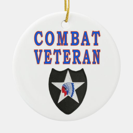 2nd INFANTRY DIVISION Christmas Ornament