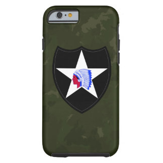 """2nd Infantry Division """"Second to None"""" Army Green Tough iPhone 6 Case"""