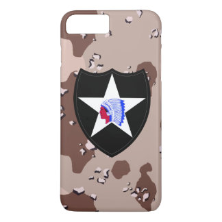 """2nd Infantry Division """"Second to None"""" Desert Camo iPhone 8 Plus/7 Plus Case"""