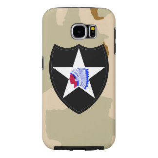 """2nd Infantry Division """"Second to None"""" Desert Camo Samsung Galaxy S6 Case"""