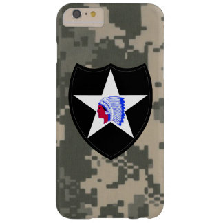 """2nd Infantry Division""""Second to None"""" Digital Camo Barely There iPhone 6 Plus Case"""