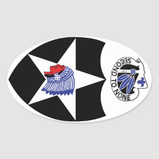 2nd Infantry Division, Second to none. Oval Sticker