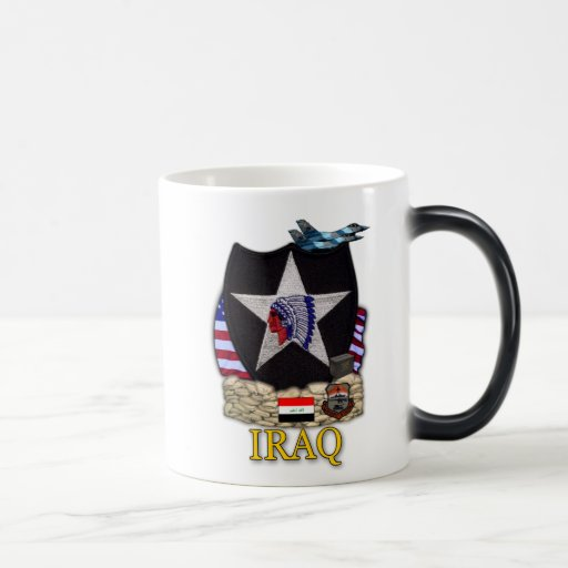 2nd infantry division veterans iraq vets patch cup coffee mugs