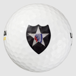 2nd infantry indianhead veterans vets patch golf balls