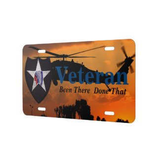 2nd infantry  indianhead veterans vets patch license plate