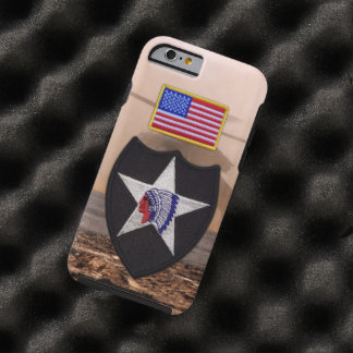 2nd infantry indianhead veterans vets patch tough iPhone 6 case