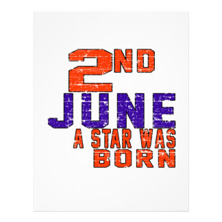 2nd June a star was born Personalized Letterhead