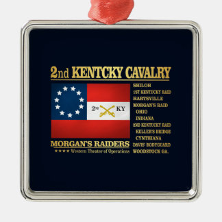 2nd Kentucky Cavalry (BA2) Metal Ornament