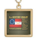 2nd Kentucky Cavalry (BA2) Square Pendant Necklace
