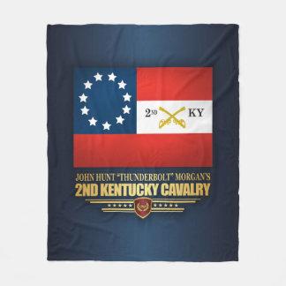 2nd Kentucky Cavalry CSA Fleece Blanket