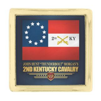 2nd Kentucky Cavalry CSA Gold Finish Lapel Pin