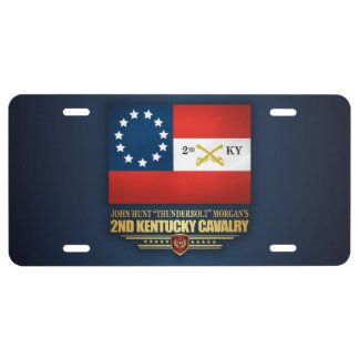 2nd Kentucky Cavalry CSA License Plate