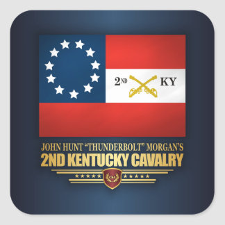 2nd Kentucky Cavalry CSA Square Sticker