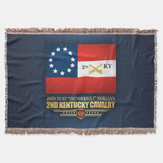 2nd Kentucky Cavalry CSA Throw Blanket