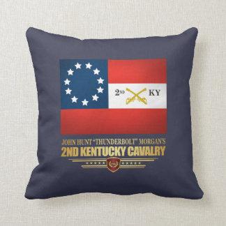 2nd Kentucky Cavalry CSA Throw Pillow