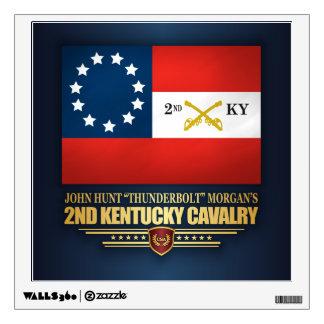 2nd Kentucky Cavalry CSA Wall Sticker