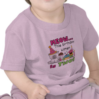 2nd Kitten Birthday Tshirts and Gifts