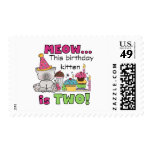 2nd Kitten Birthday Tshirts and Gifts Postage Stamp