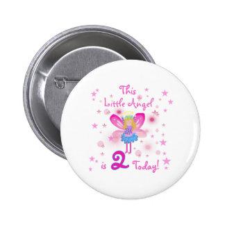 2nd Little Angel Birthday Pinback Button