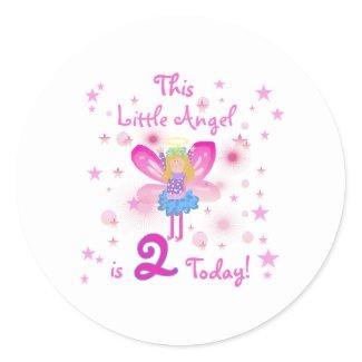 2nd Little Angel Birthday Stickers