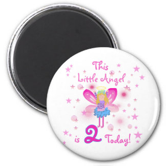 2nd Little Angel Birthday T-shirts and Gifts Refrigerator Magnets