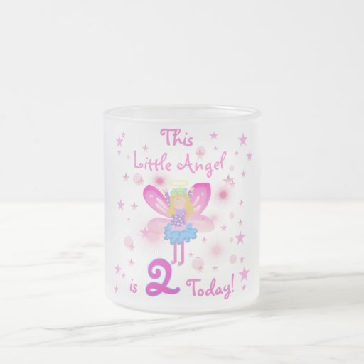 2nd Little Angel Birthday T-shirts and Gifts 10 Oz Frosted Glass Coffee Mug