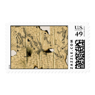 2nd Map of the Forgotten Realm Postage Stamp