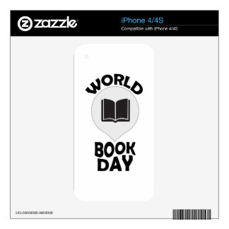 2nd March - World Book Day iPhone 4S Decals