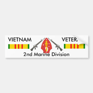 2nd Marine Div bumper sticker