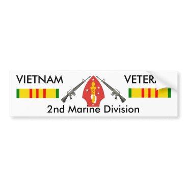 2nd Marine Div bumper sticker