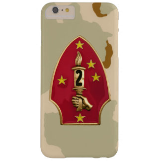 "2nd Marine Division""The Silent Second"" Desert Camo Barely There iPhone 6 Plus Case"