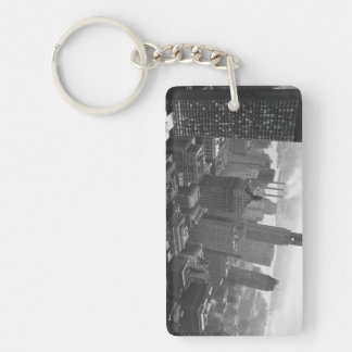 2nd May 1961:  The Chrysler building in New York Double-Sided Rectangular Acrylic Keychain