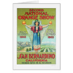 2nd National Orange Show 1912 Greeting Cards